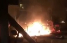 حرق خيام معتصمي البصرة