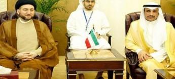 """الحكيم يلتقي رئيس مجلس الامة الكويتي """"الغانم"""" و يدعوه الى """"تضافر الجهود"""""""