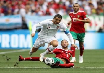 البرتغال تتخطى المغرب بهدف لكرستيانو رونالدو