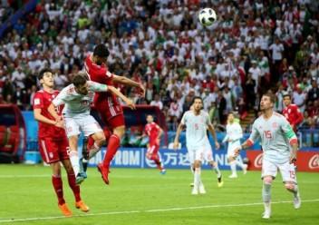 اسبانيا تفوز على ايران 1-0  وتتساوى مع البرتغال بصدارة المجموعة