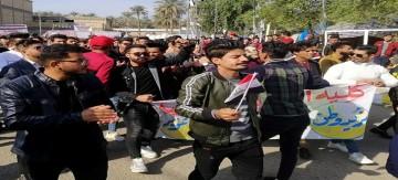الديوانية :  طلبة  الكليات والمدراس يواصلون إضرابهم ولا عودة لمقاعد الدراسة