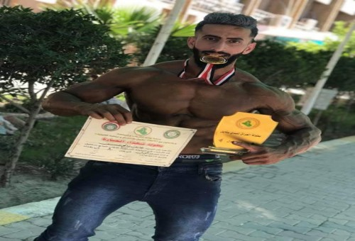 """اللاعب هادي الطائي يحرز المركز الاول في بطولة العراق لكمال الاجسام بفعالية""""بدي ستايل"""""""