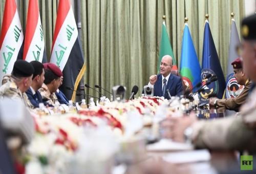 الرئيس العراقي: بلادنا لن نكون ساحة صراع للآخرين من جديد