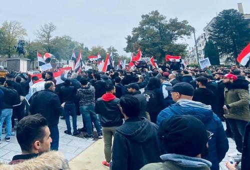 عراقيو بلجيكا في وقف تضامنية مع متظاهري العراق