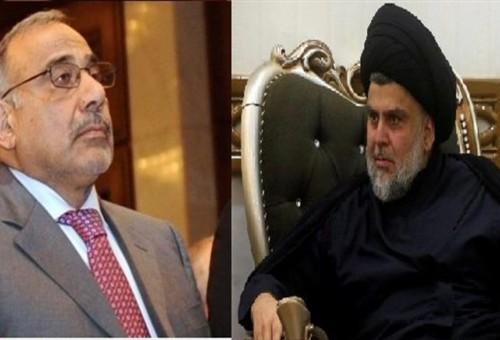 عبد المهدي يرد على الصدر: أحزاب العراق لم تفهم المعادلات الجديدة فلم تقم بواجبها كما يجب
