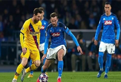 يويفا يحسم مكان إقامة مباراة برشلونة ونابولي في دوري الأبطال