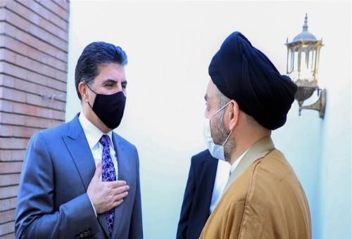الحكيم وبارزاني يبحثان تطورات المشهد السياسي العراقي والإقليمي والدولي