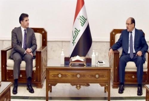 المالكي وبارزاني يؤكدان ضرورة الوصول لحلول جذرية للمشاكل بين بغداد وأربيل