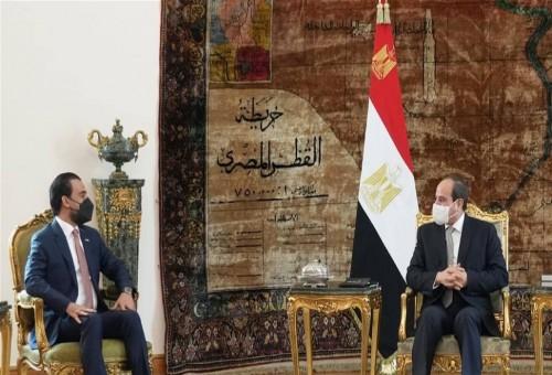 السيسي يؤكد للحلبوسي حرص مصر على تطوير التعاون مع العراق
